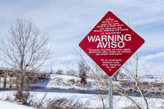 Watervervuilingwaarschuwingsbord Royalty-vrije Stock Foto