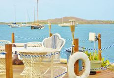 Waterview outdoor site  with yachts usvi st croix Royalty Free Stock Image