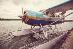 Watervliegtuig in Alaska royalty-vrije stock foto