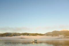 Watervliegtuig bij Meer Te Anau, Nieuw Zeeland Stock Afbeeldingen