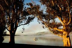 Watervliegtuig bij Meer Te Anau, Nieuw Zeeland Royalty-vrije Stock Afbeelding