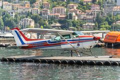 Watervliegtuig Cessna 172N Skyhawk 100 II Stock Fotografie