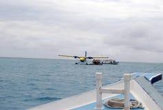 Watervliegtuig, de Maldiven royalty-vrije stock foto