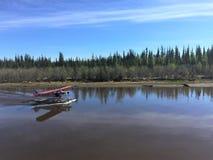 Watervliegtuig op Chena-Rivier, Alaska, de V.S. royalty-vrije stock afbeeldingen