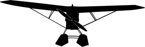 Watervliegtuigsilhouet Royalty-vrije Stock Afbeeldingen