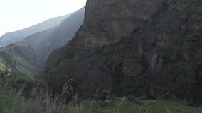 Waterwall caucasiano dos animais de Geórgia da natureza da beleza do rio das montanhas de Cáucaso video estoque