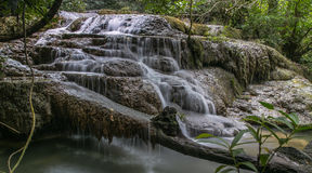 Waterwall d'Erawan Images libres de droits