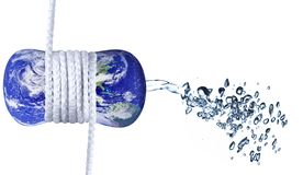 Waterwaste concept Stock Image