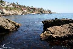 Waterway. View of rocks on the Laguna Beach shoreline Stock Images