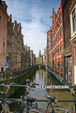 Waterway Amsterdam. View of the Kolkswaterkering waterway in Amsterdam Holland Royalty Free Stock Photography