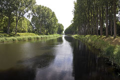 Waterway, Belgium Royalty Free Stock Images