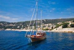 waterway, boat, water transportation, water, tall ship, watercraft, sailboat Royalty Free Stock Image