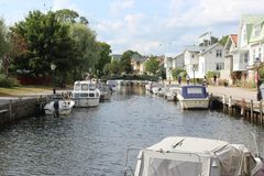 Waterway, Body Of Water, Water Transportation, Canal royalty free stock photos