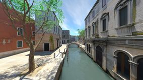 Waterway. 3D CG rendering of the waterway Stock Images