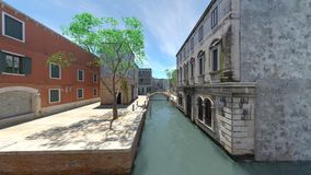 Waterway. 3D CG rendering of the waterway Royalty Free Stock Photo