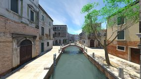 Waterway. 3D CG rendering of the waterway Stock Image