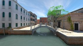 Waterway. 3D CG rendering of the waterway Royalty Free Stock Photos