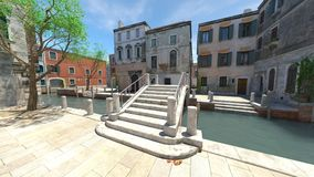 Waterway. 3D CG rendering of the waterway Royalty Free Stock Images