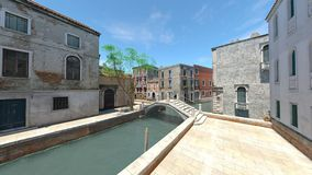 Waterway. 3D CG rendering of the waterway Stock Photography