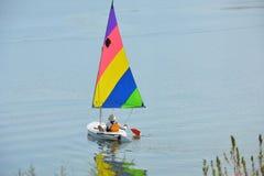 Waterway, Dinghy Sailing, Water Transportation, Sail stock photo