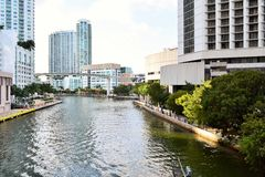 Waterway Downtown Miami Stock Images