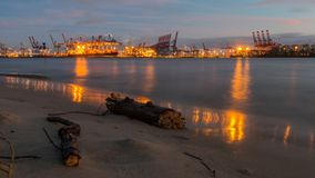 Waterway, Evening, Sunset, Shore Royalty Free Stock Image