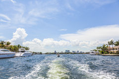 Waterway in Fort Lauderdale Royalty Free Stock Photo