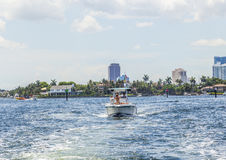 Waterway in Fort Lauderdale Stock Photos