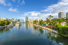 Free Waterway In Miami Beach Royalty Free Stock Image - 50306386