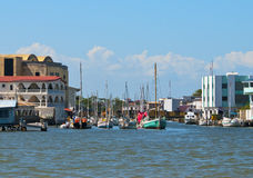Waterway Of Belize City, Belize Stock Photos