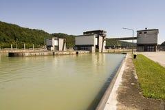Waterway at power plant Stock Photo