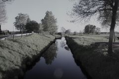 Waterway, Reflection, Water, Tree royalty free stock images