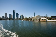 Waterway Scene, Surfers Paradise, Royalty Free Stock Photos