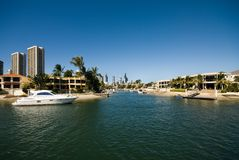Waterway Scene, Surfers Paradise, Stock Images