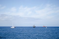 Waterway, Sea, Horizon, Sky royalty free stock photos