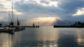 Waterway, Sky, Marina, Horizon stock photography