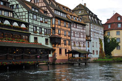 Waterway in Strasbourg, France Royalty Free Stock Images