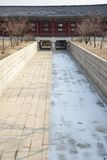 Waterway under the Yeongje bridge Royalty Free Stock Image