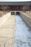 Waterway under the Yeongje bridge Royalty Free Stock Image