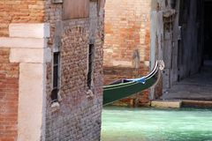 Waterway, Water, Gondola, Wood Royalty Free Stock Photos