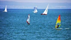 Waterway, Windsurfing, Water Transportation, Dinghy Sailing stock photo