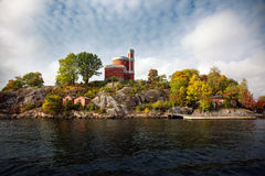 Waterways and beautiful old buildings in Stockholm, Sweden Royalty Free Stock Photo