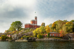 Waterways and beautiful old buildings in Stockholm, Sweden Stock Photo