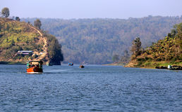 Waterways of Kaptai lake in Bangladesh Royalty Free Stock Image