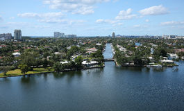 Waterways and skyline of Fort Lauderdale, Florida, USA Stock Photography