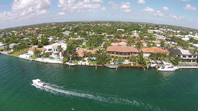 Waterways of South Florida. Aerial view of waterways and expensive real estate in Florida