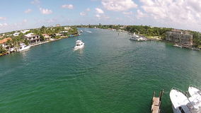 Waterways of South Florida stock video footage