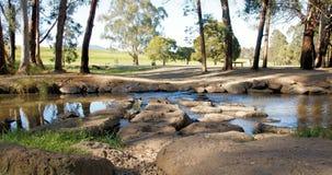 Waterweg bij een meer in Victoria, Australië royalty-vrije stock afbeelding