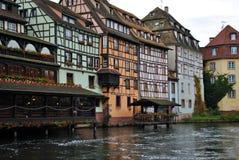 Waterweg in Straatsburg, Frankrijk royalty-vrije stock afbeeldingen