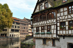 Waterweg in Straatsburg, Frankrijk royalty-vrije stock afbeelding